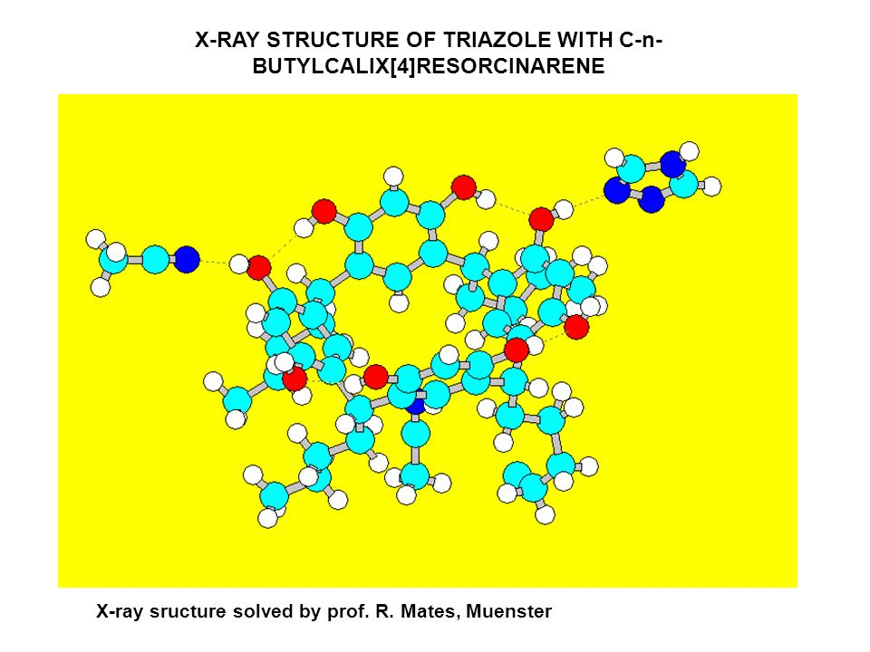 X-RAY STRUCTURE OF TRIAZOLE WITH C-n-BUTYLCALIX[4]RESORCINARENE